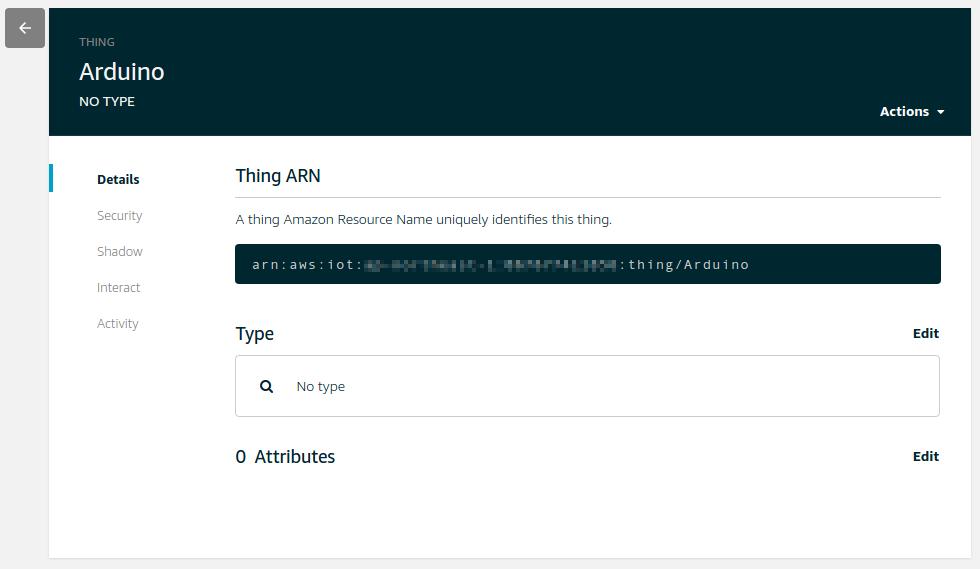 Amazon Web Services] AWS IoTでMQTTブローカーを作りArduino